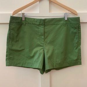 j crew hunter green chino shorts